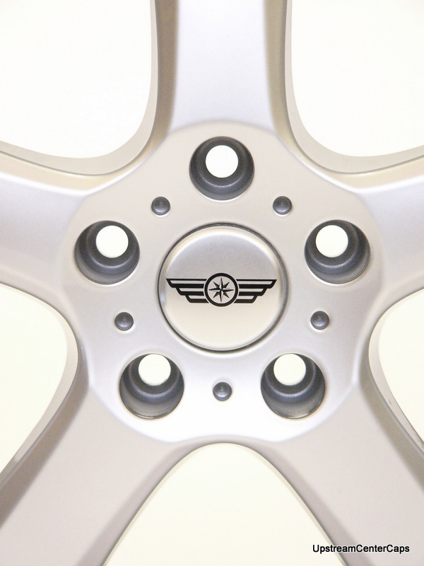 Alloy wheel centre cap wings