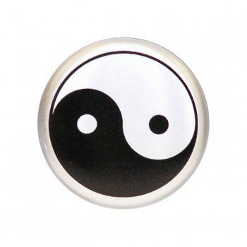 Center cap yin yang